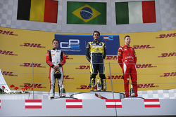 Race winner Felipe Nasr, second place Stoffel Vandoorne, third place Raffaele Marciello