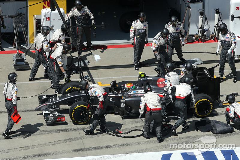 Boxenstopp: Esteban Gutierrez, Sauber F1 Team