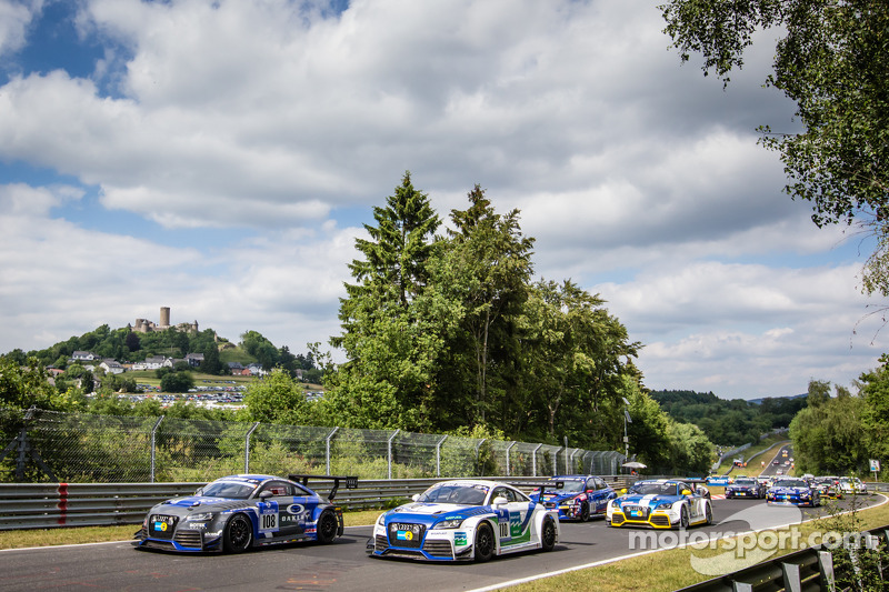 Via: #108 Rotek Racing Audi TT RS: Robert Huff, Robb Holland, Richard Meins, Kevin Gleason e #110 Be