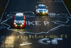 #150 Roadrunner Racing Renault Clio Kupası: Lutz Rühl, Thomas D. Hetzer, Boris Hrubesch, Jürgen Peter, #120 LMS engineering Audi TT RS: Daniela Schmid, Christopher Tiger, Roland Botor, Constantin Kletzer