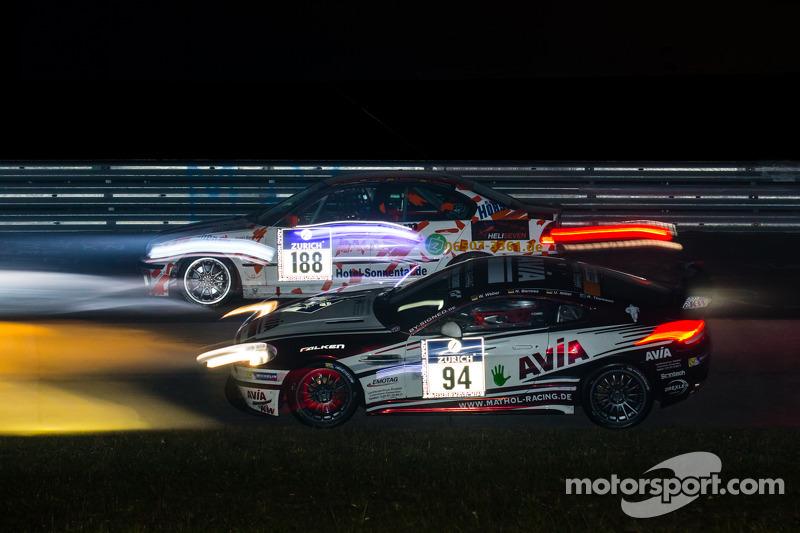 #188 MSC Konz e.V.i. ADAC BMW B46 L: Alexander Herrmann, Achim Herrmann, #94 Mathol Racing Aston Mar