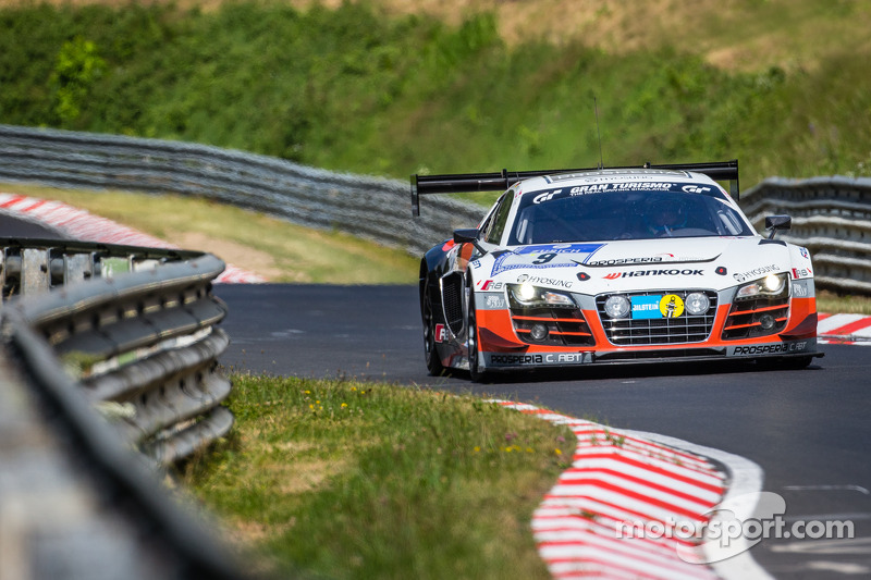 #9 Abt Racing Audi R8 LMS ultra: Richard Westbrook, Marco Seefried, Alex Müller, Nicki Thiim