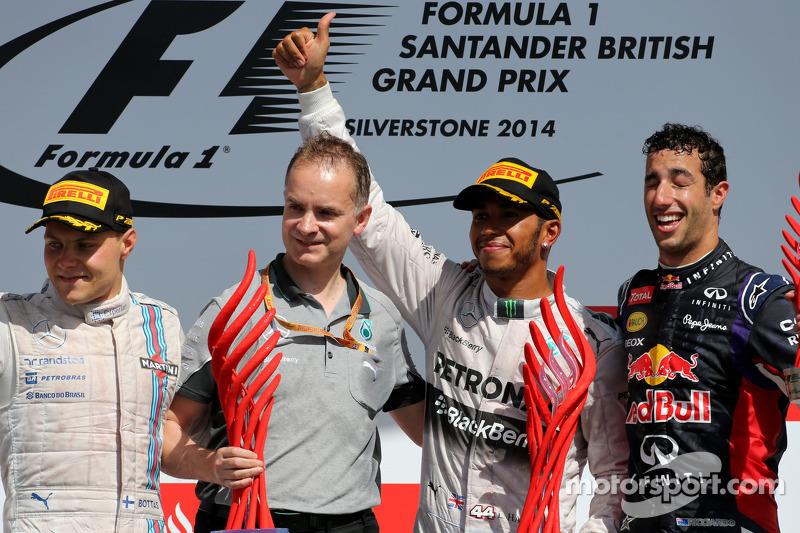 Valtteri Bottas, Williams F1 Team, Lewis Hamilton, Mercedes AMG F1 Team Daniel Ricciardo, Red Bull R