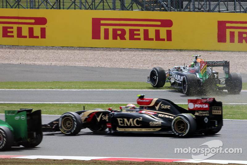 Largada da corrida, Sergio Perez, Sahara Force India