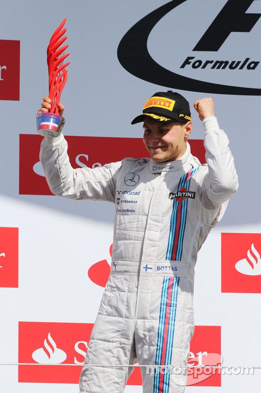 Valtteri Bottas, Williams festeggia la seconda posizione sul podio