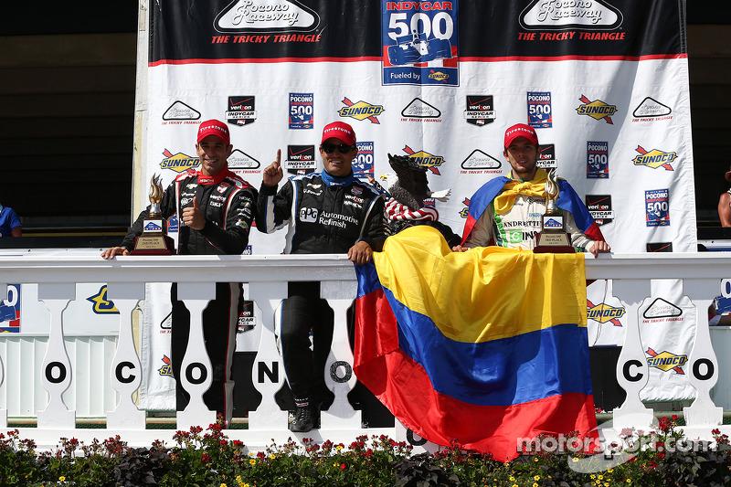Helio Castroneves, Penske Racing Chevrolet ve Juan Pablo Montoya, Penske Racing Chevrolet ve Carlos