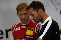 奥迪Abt车队奥迪A5 DTM车手马蒂亚斯·埃克斯特罗姆和斯文·汉纳瓦尔德