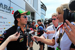 Sergio Perez, Sahara Force India F1 with the media