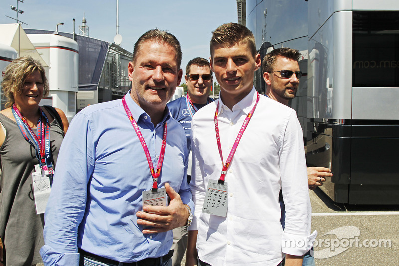 (L to R): Jos Verstappen, with his son Max Verstappen