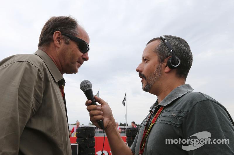 Gerhard Berger sulla griglia di partenza