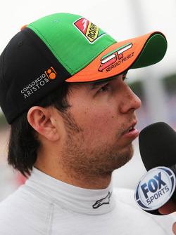 Sergio Pérez, Sahara Force India F1 en la parrilla