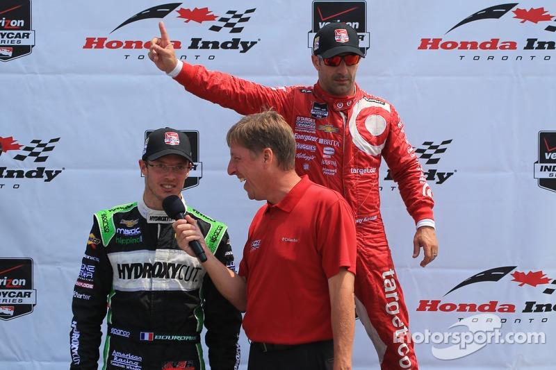 Tony Kanaan, Chip Ganassi Racing Chevrolet e Sébastien Bourdais, KVSH corsa Chevrolet