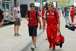 Fernando Alonso, Ferrari ve Fabrizio Borra, Ferrari Fizyoterapisti