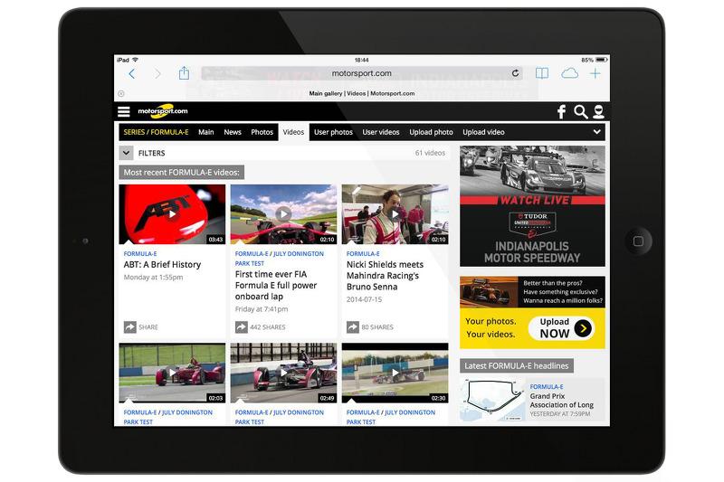 Preview of the Motorsport.com Generation 5 website