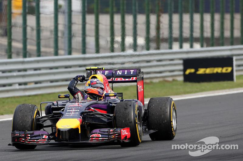 Parc Ferme:  Daniel Ricciardo, Red Bull Racing