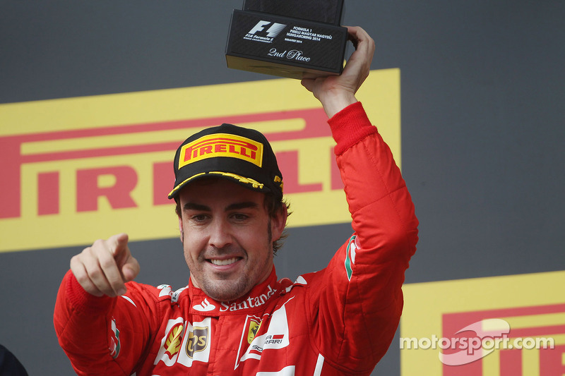 Fernando Alonso, 2º en el GP de Hungría 2014
