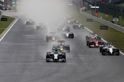 Start of the race, Nico Rosberg, Mercedes AMG F1 Team