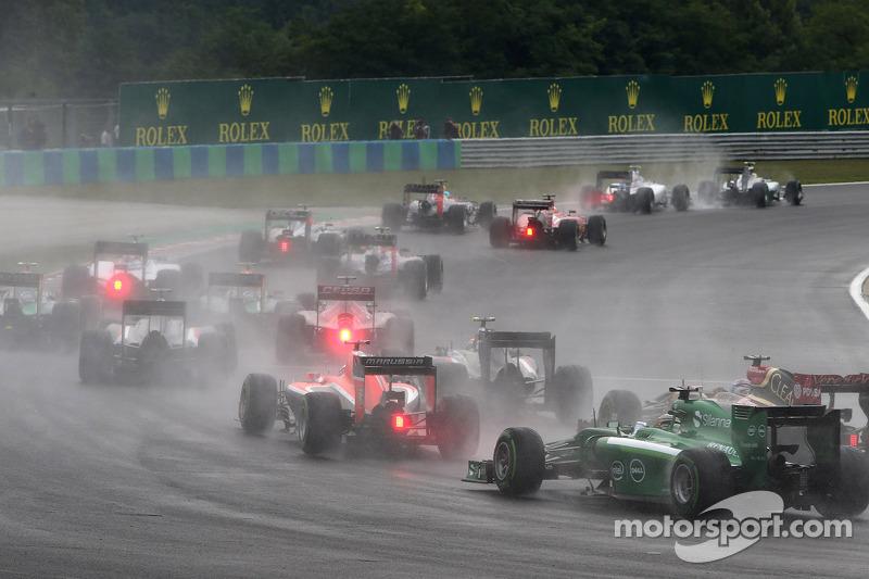 Partenza della gara, Max Chilton, Marussia F1 Team