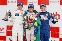 领奖台: 比赛获胜者 Pietro Fittipaldi, 第二名 Matteo Ferrer, 第三名 Alex Gill