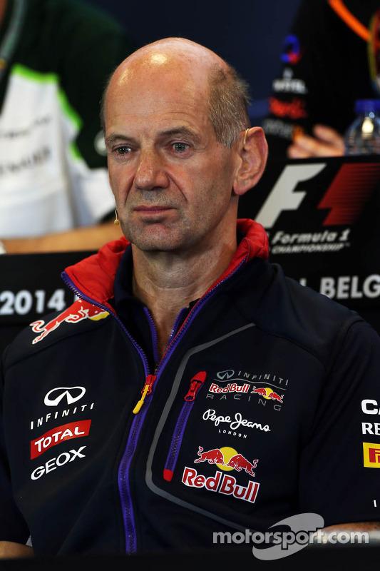 FIA-Pressekonferenz: Adrian Newey, Technischer Direktor Red Bull Racing