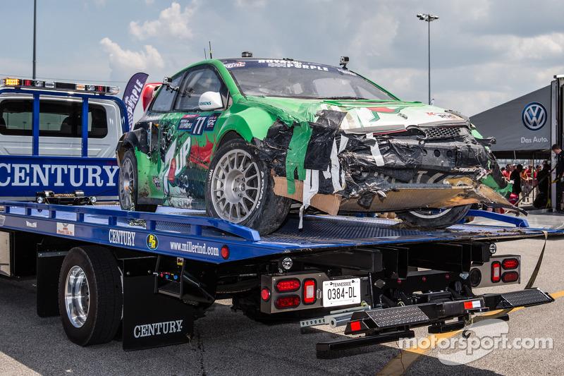#77 Volkswagen Andretti Rallycross Volkswagen Polo: Scott Speed'in aracında büyük hasar