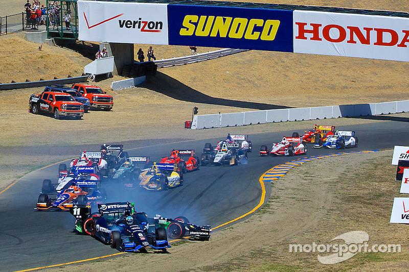 Partenza: Sébastien Bourdais e Ryan Briscoe, incidente