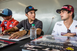 #126 Olsbergs MSE: Alejandro Fernandez ve #07 SH Racing Rallycross Ford Fiesta ST: Nelson Piquet Jr.