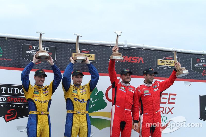 Vincitori GTLM # 62 Risi Competizione Ferrari F458: Giancarlo Fisichella, Pierre Kaffer GTD vincitori # 94 Turner Motorsport BMW Z4: Dane Cameron, Markus Palttala