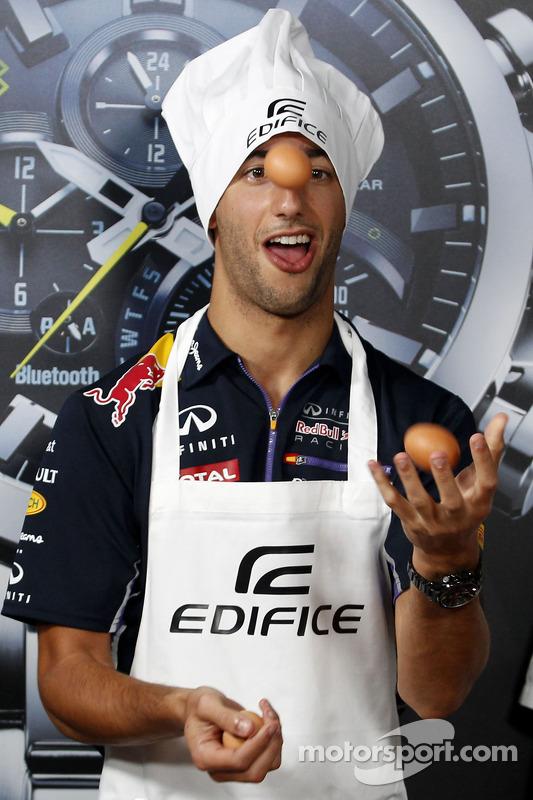 Almoço promovido pela Casio Edifice na Red Bull Energy Station:, Daniel Ricciardo, Red Bull Racing