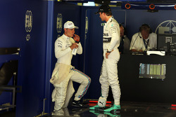 Valtteri Bottas, Williams with Nico Rosberg, Mercedes AMG F1 en parc ferme