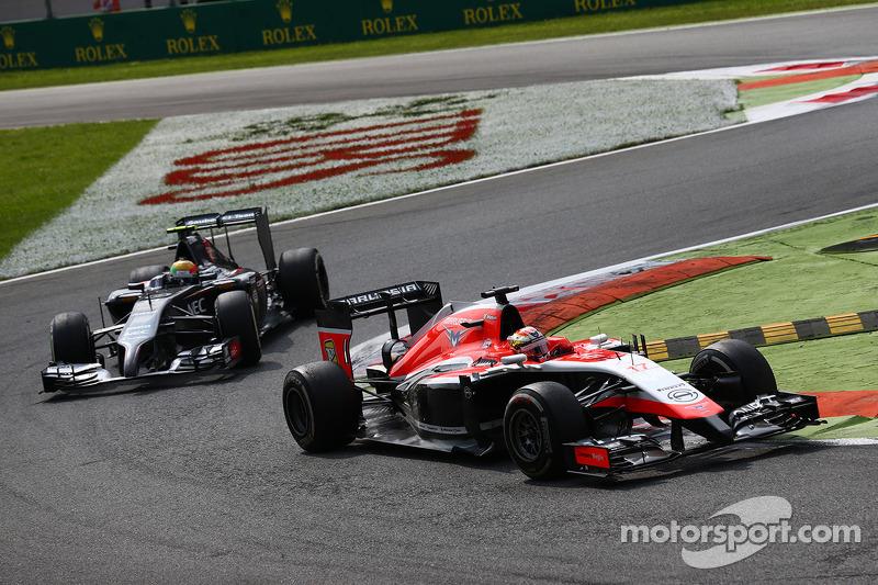 玛鲁西亚F1车队MR03赛车车手朱尔斯·比安奇