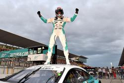 Winner James Rossiter celebrates