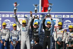 LMP2 podium: winners Gary Hirsch, Pierre Ragues, Christian Klien