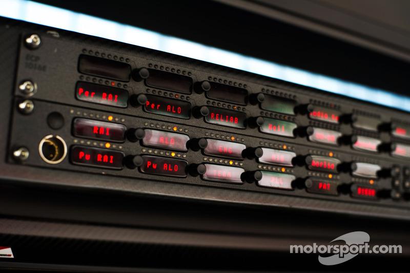 Ferrari team radio detail
