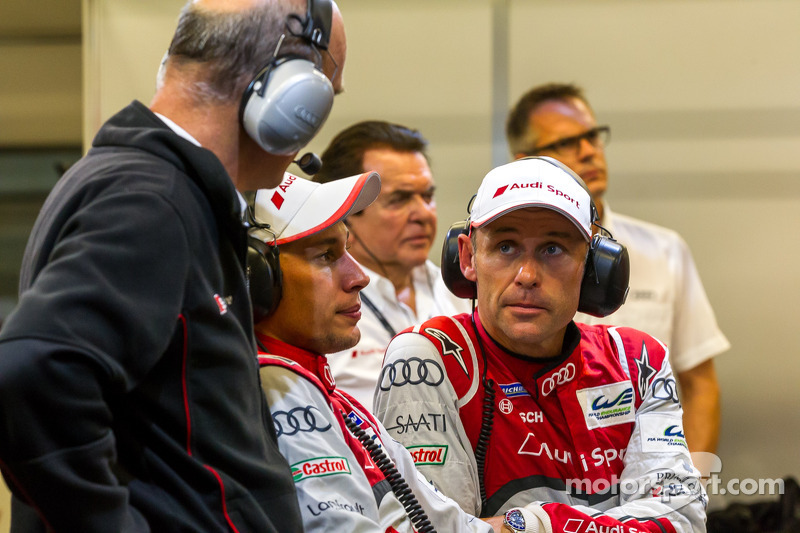 Tom Kristensen, Loic Duval e il Dr. Wolfgang Ullrich