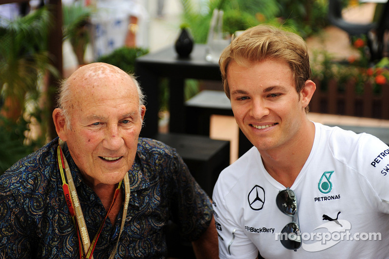 Stirling Moss, con Nico Rosberg, Mercedes AMG F1