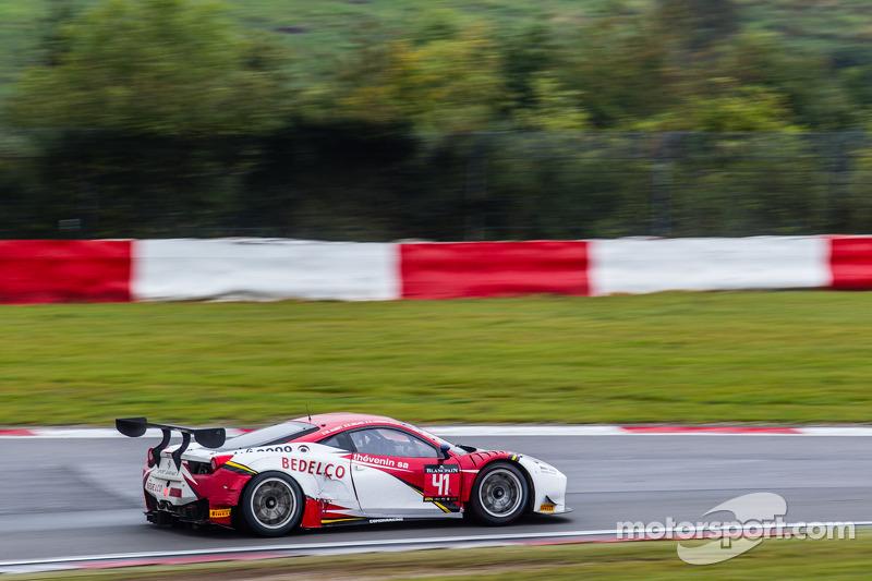 #41 Sport Garage Ferrari 458 Italia: Bruce Lorgere-Roux, Michael Albert, Bernard Delhez