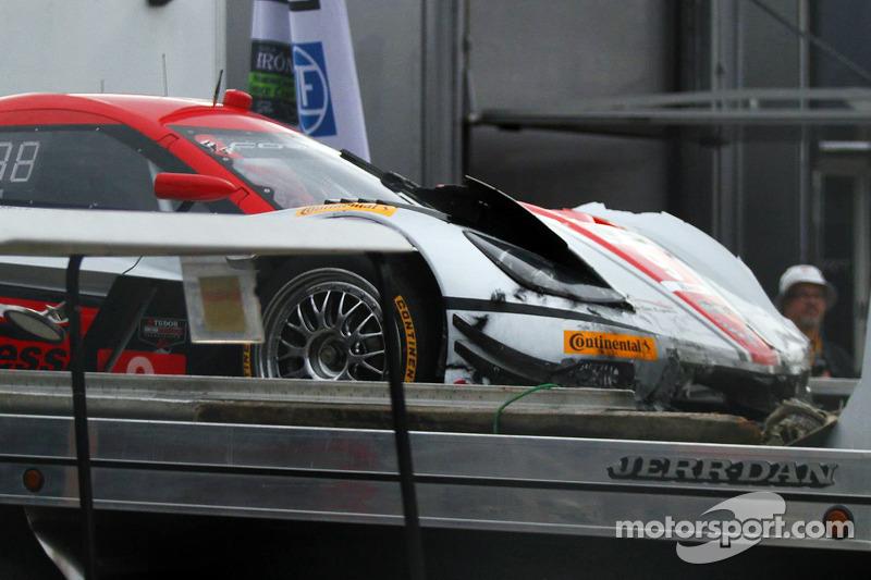 Hasarlı #9 Action Express Racing Corvette DP: Brian Frisselle, Burt Frisselle, Jon Fogarty