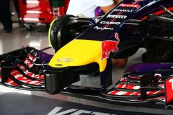 Dettaglio dell'ala anteriore della Red Bull Racing RB10