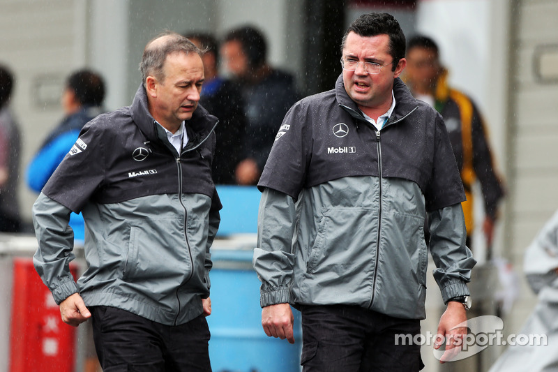 (L to R): Jonathan Neale, McLaren Chief Operating Officer and Eric Boullier, McLaren Racing Director