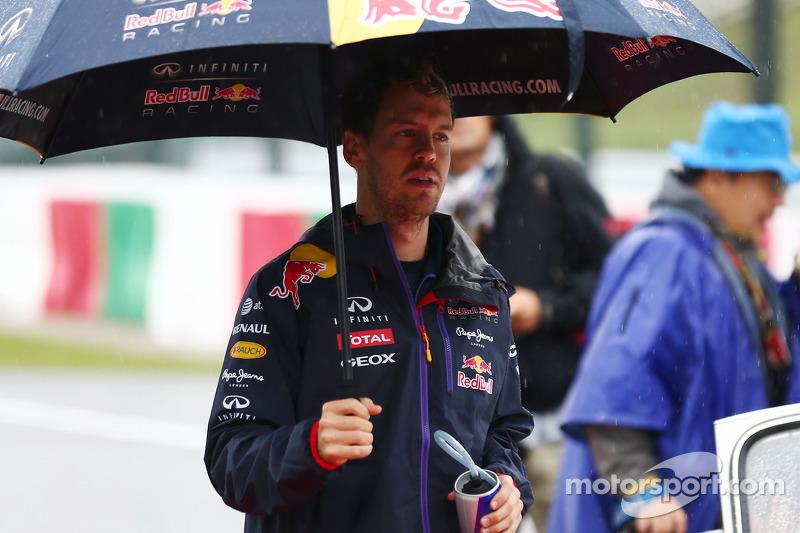 Sebastian Vettel, Red Bull Racing en el desfile depilotos