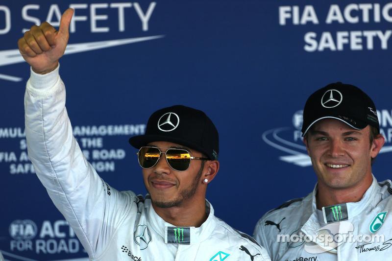 Lewis Hamilton, Mercedes AMG F1; Nico Rosberg, Mercedes AMG F1 Team