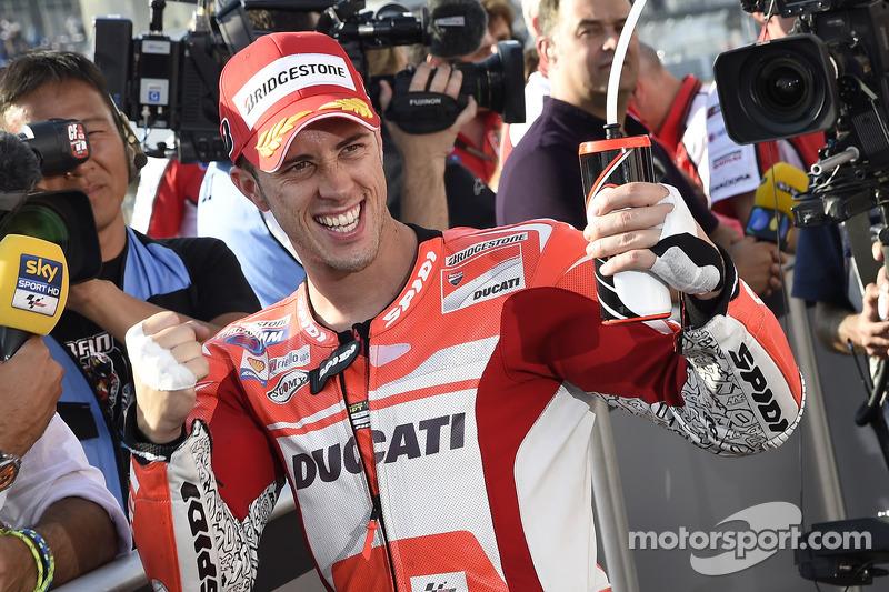 Ganador de la pole Andrea Dovizioso, Ducati Team