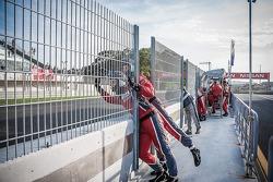 Sebastian Loeb Racing Team Celebrating