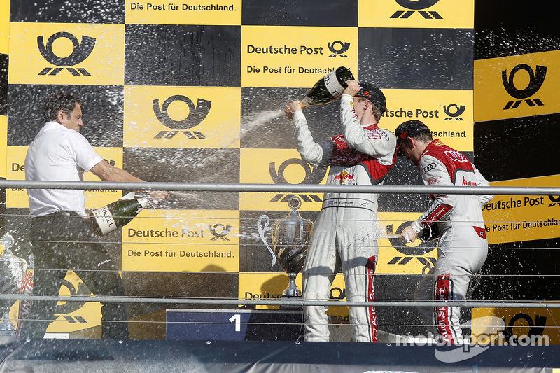 Mattias Ekstrom, Audi Sport Team Abt Sportsline, Audi A5 DTM y Hans-Jurgen Abt, Teamchef Abt-Audi