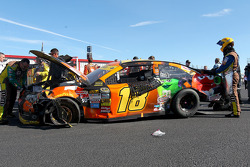 Kyle Busch, Joe Gibbs Racing Toyota in trouble
