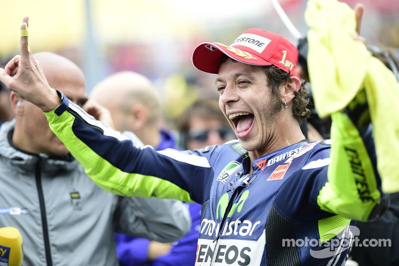 Ganador de la carrera de Valentino Rossi, de Yamaha Factory Racing