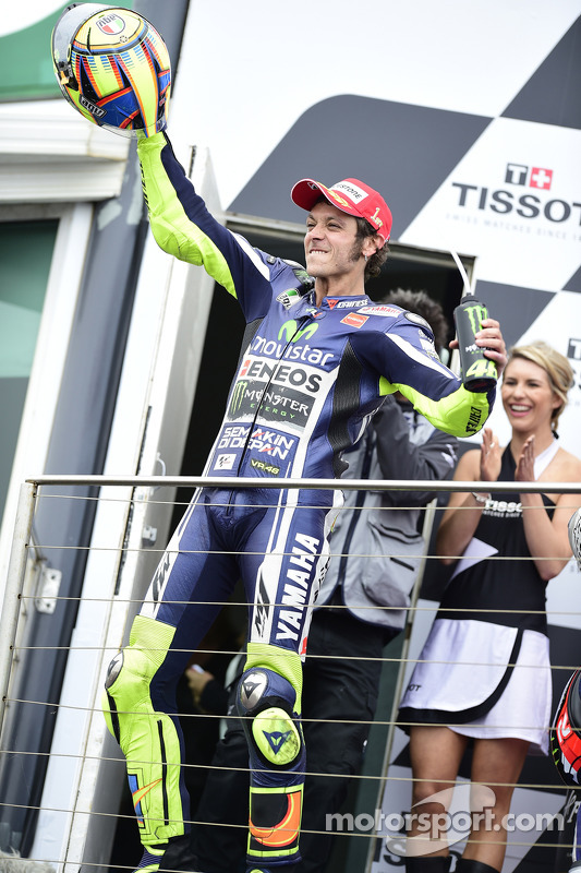 Vencedor da corrida Valentino Rossi, Yamaha Factory Racing