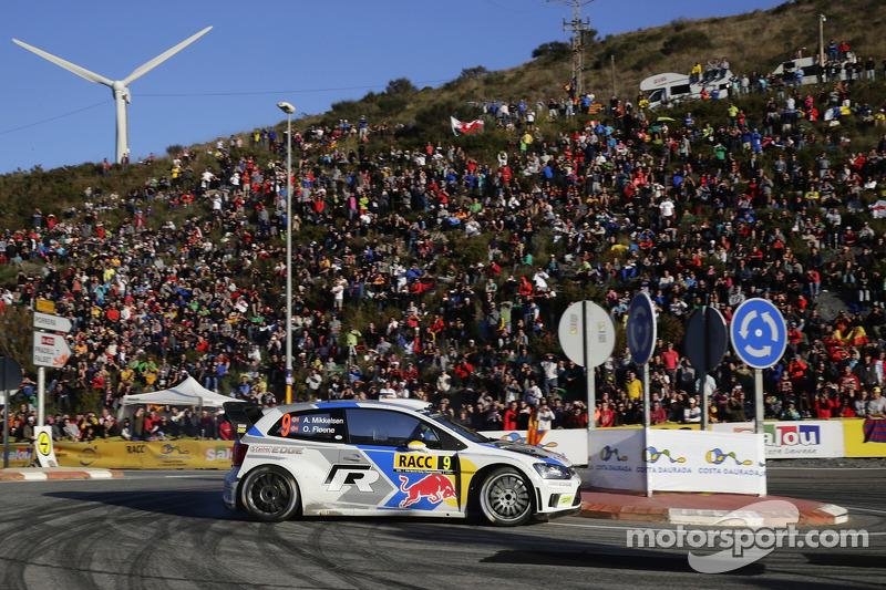 Andreas Mikkelsen y Ola Floene, Volkswagen Polo WRC, Volkswagen Motorsport