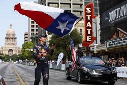 Sebastian Vettel y las banderas de Texas